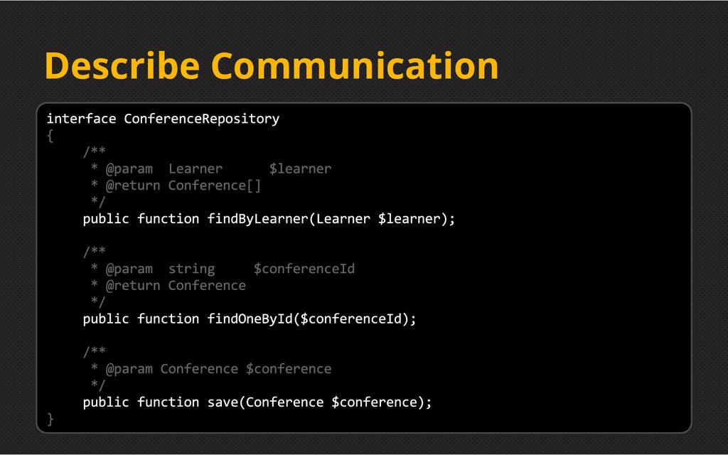 Describe Communication