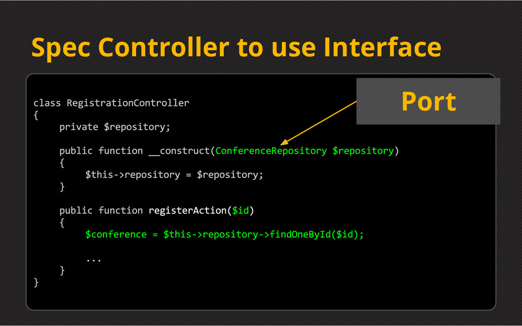 Spec Controller to use Interface Port