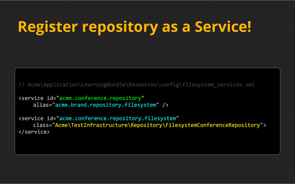Register repository as a Service!