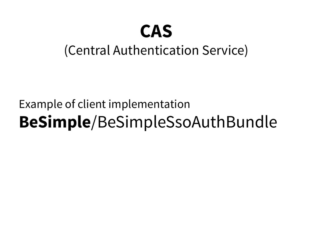 CAS (Central Authentication Service) Example of...