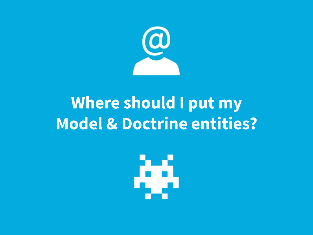 Where should I put my Model & Doctrine entities?
