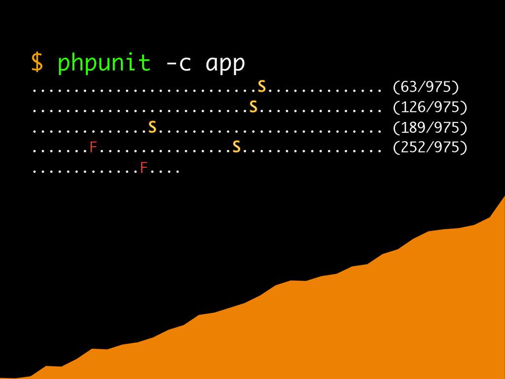 $ phpunit -c app ........................... .....