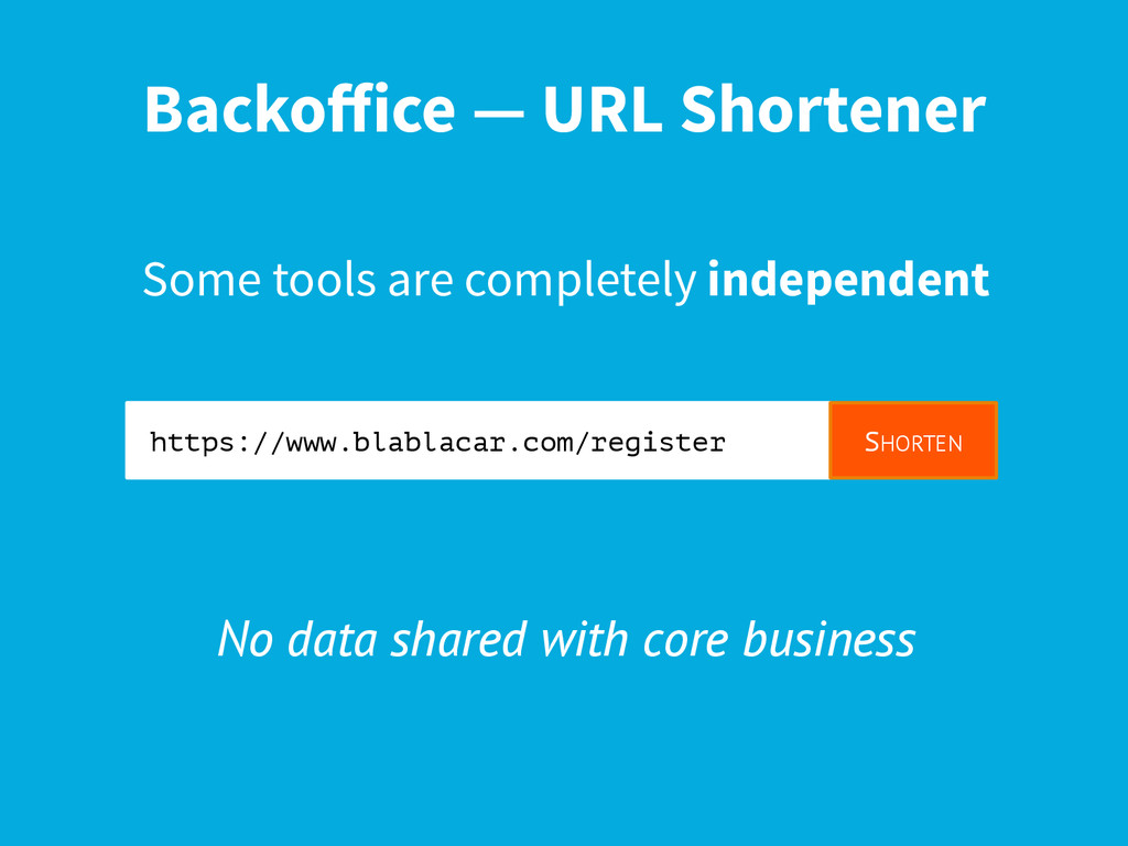 Backoffice — URL Shortener Some tools are comple...