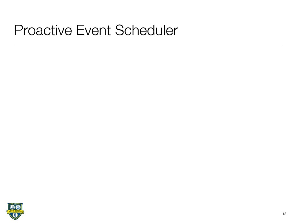 Proactive Event Scheduler 13