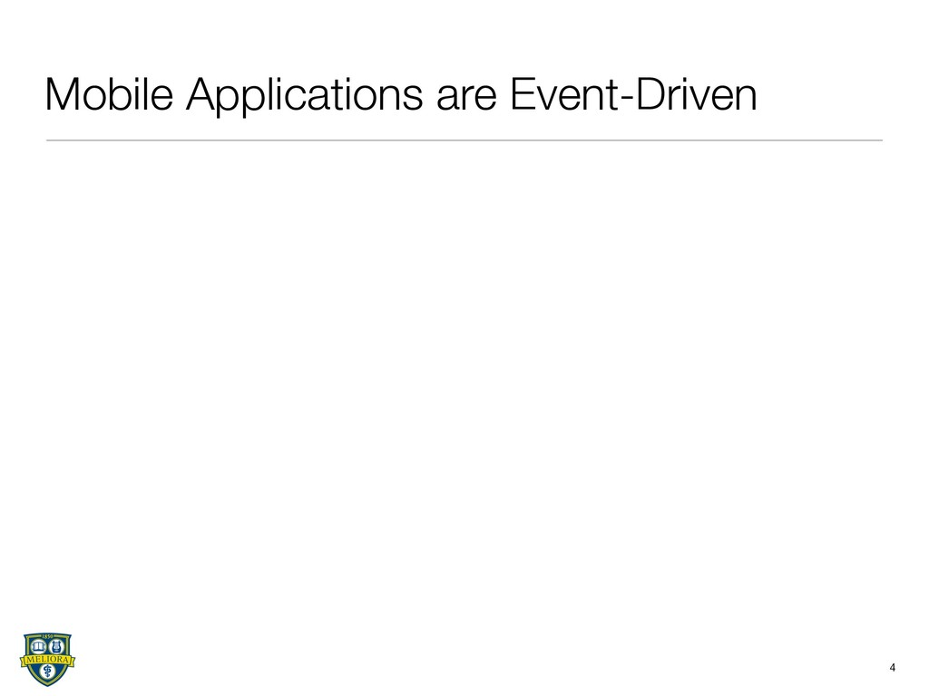 Mobile Applications are Event-Driven 4
