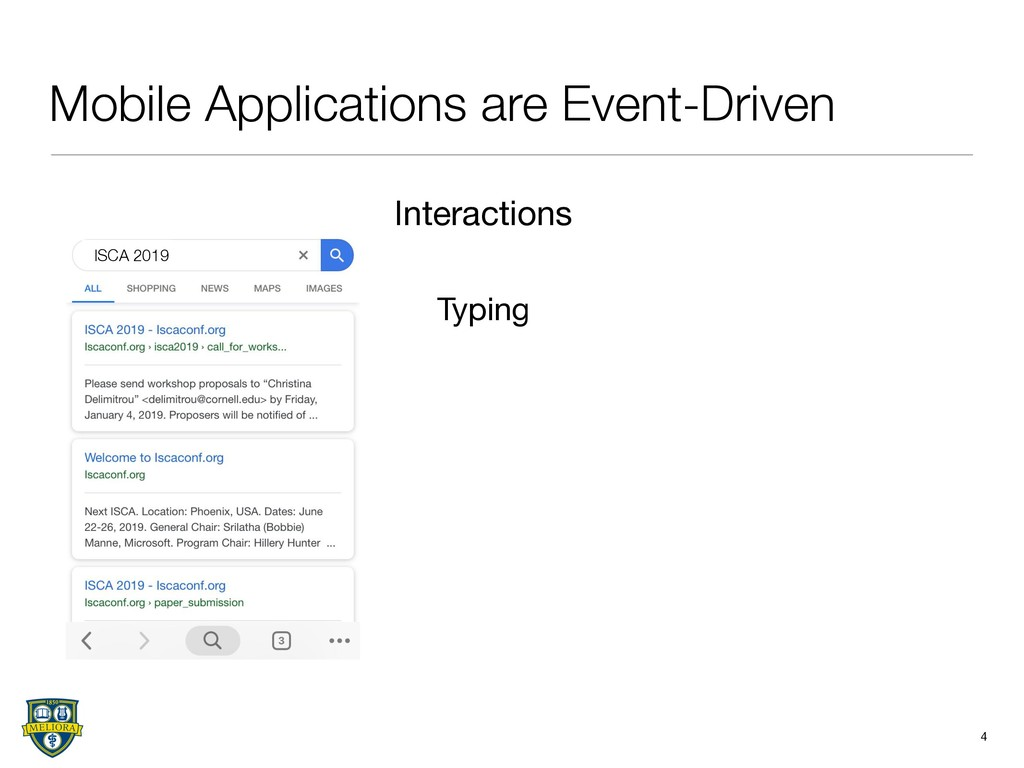 Mobile Applications are Event-Driven 4 Typing I...