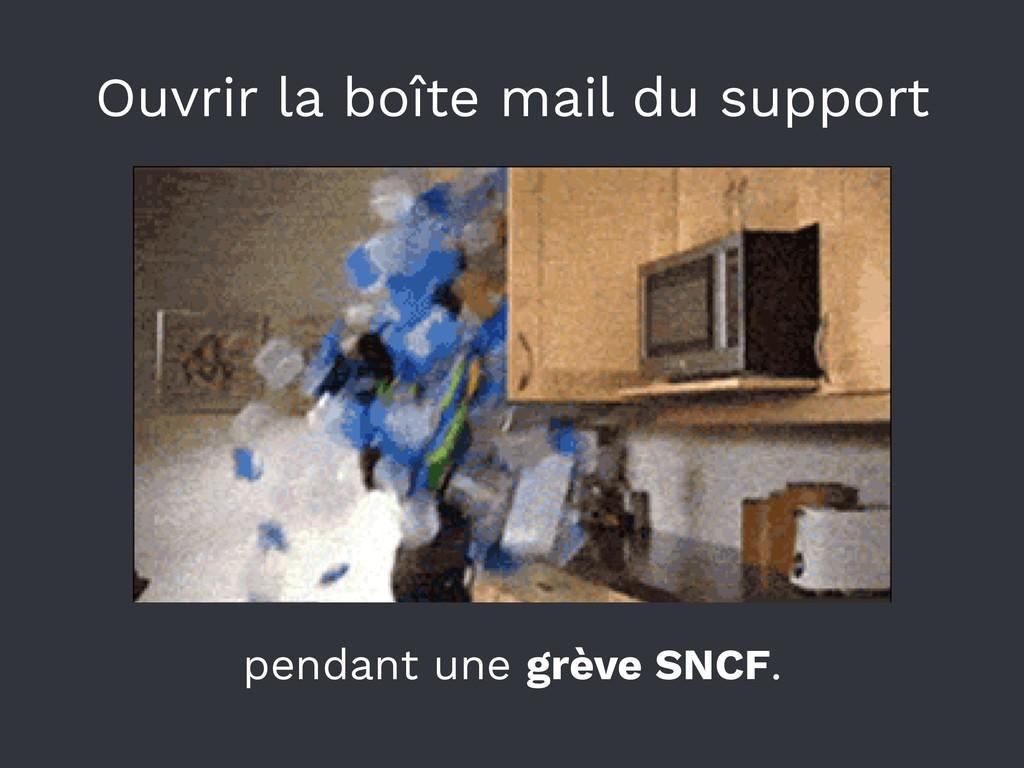 Ouvrir la boîte mail du support pendant une grè...