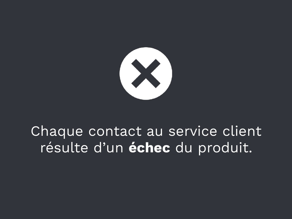 Chaque contact au service client résulte d'un é...