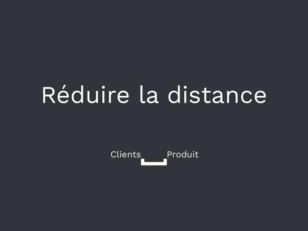 Réduire la distance Clients Produit