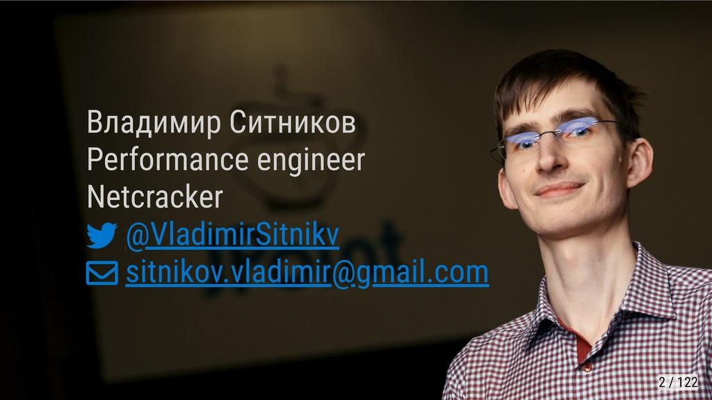 Владимир Ситников Performance engineer Netcrack...