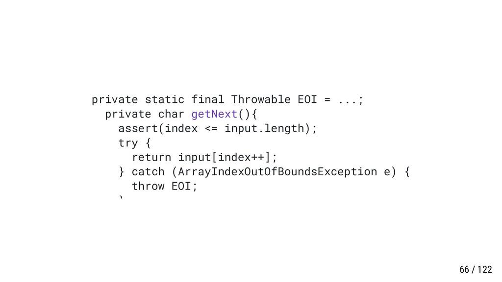private static final Throwable EOI = ...; priva...