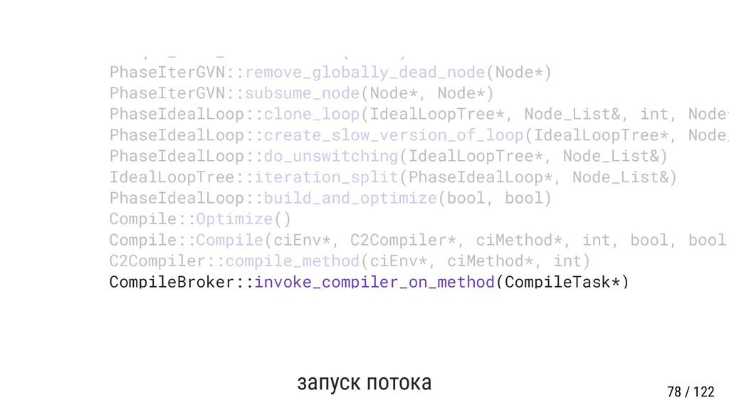 запуск потока CompileBroker::invoke_compiler_on...