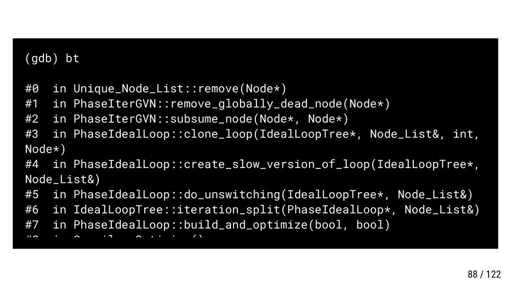 (gdb) bt #0 in Unique_Node_List::remove(Node*) ...