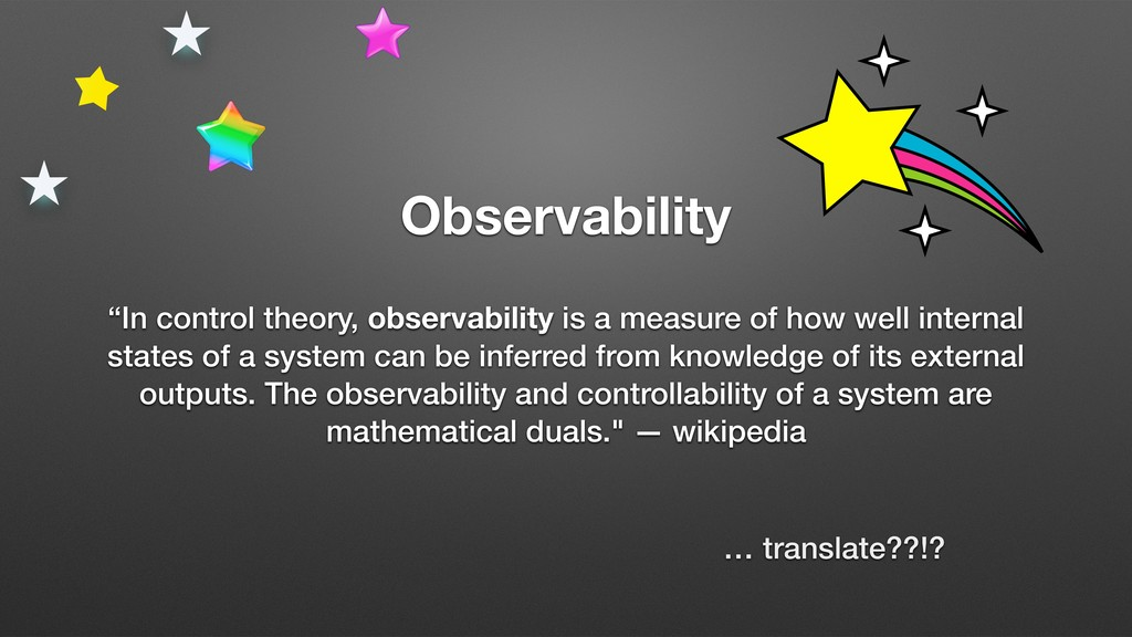 "Observability ""In control theory, observability..."