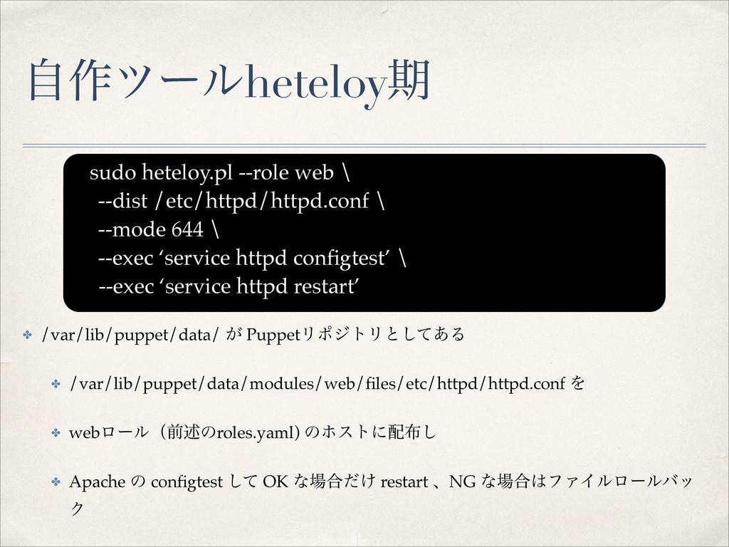 ࣗ࡞πʔϧheteloyظ ✤ /var/lib/puppet/data/ ͕ PuppetϦ...