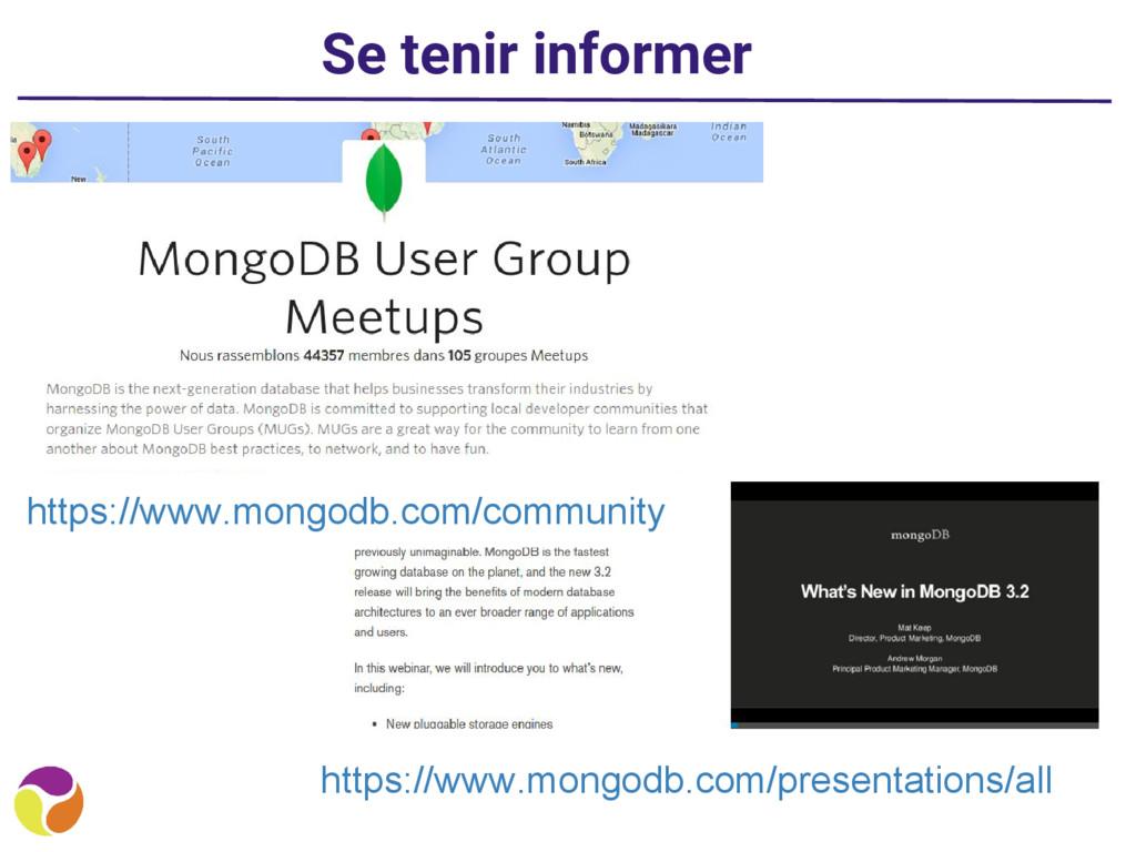 Se tenir informer https://www.mongodb.com/prese...