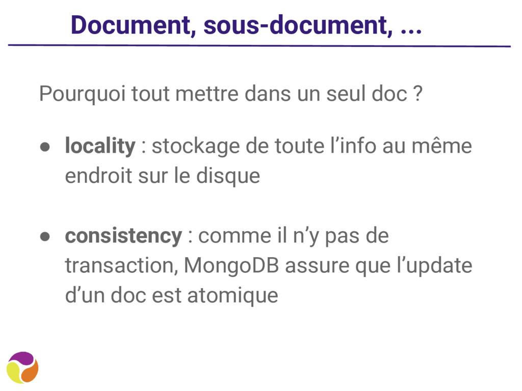 Document, sous-document, ... Pourquoi tout mett...