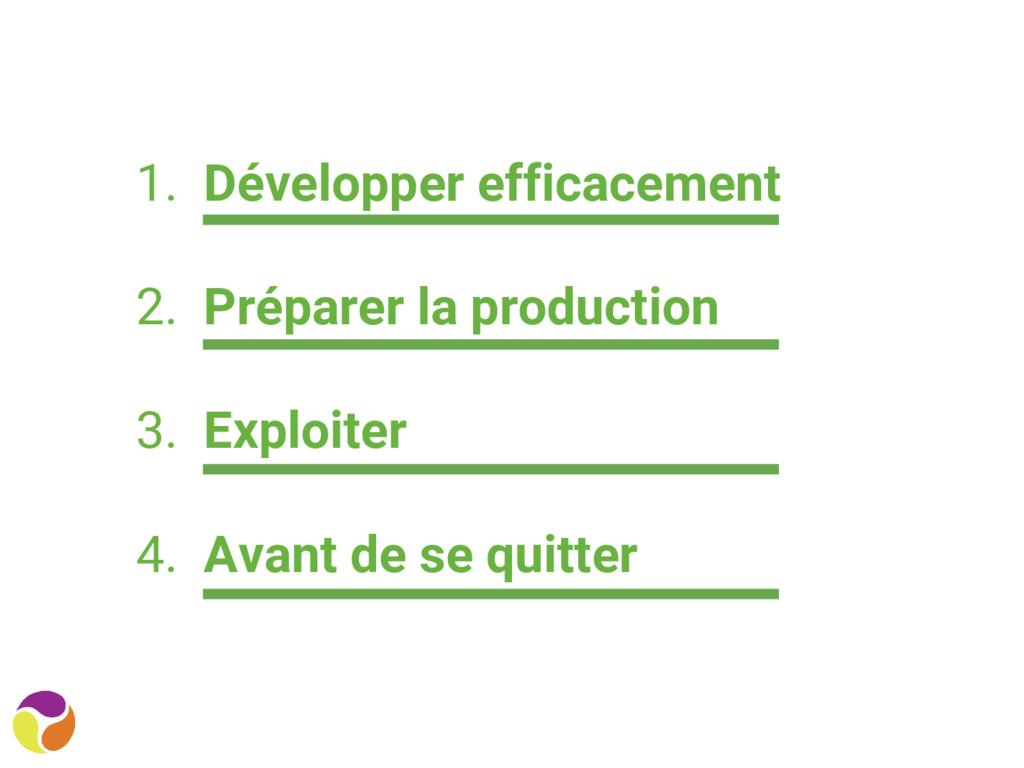 1. Développer efficacement 2. Préparer la produ...