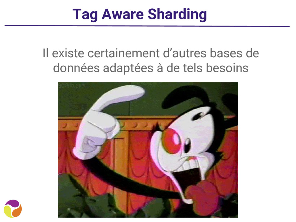 Tag Aware Sharding Il existe certainement d'aut...