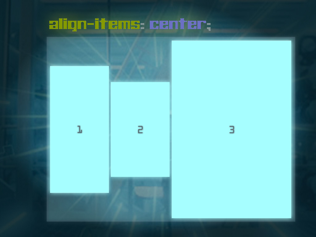 align-items: center; 1 2 3