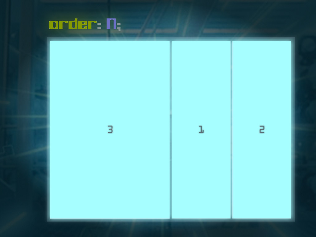 order: N; 3 2 1