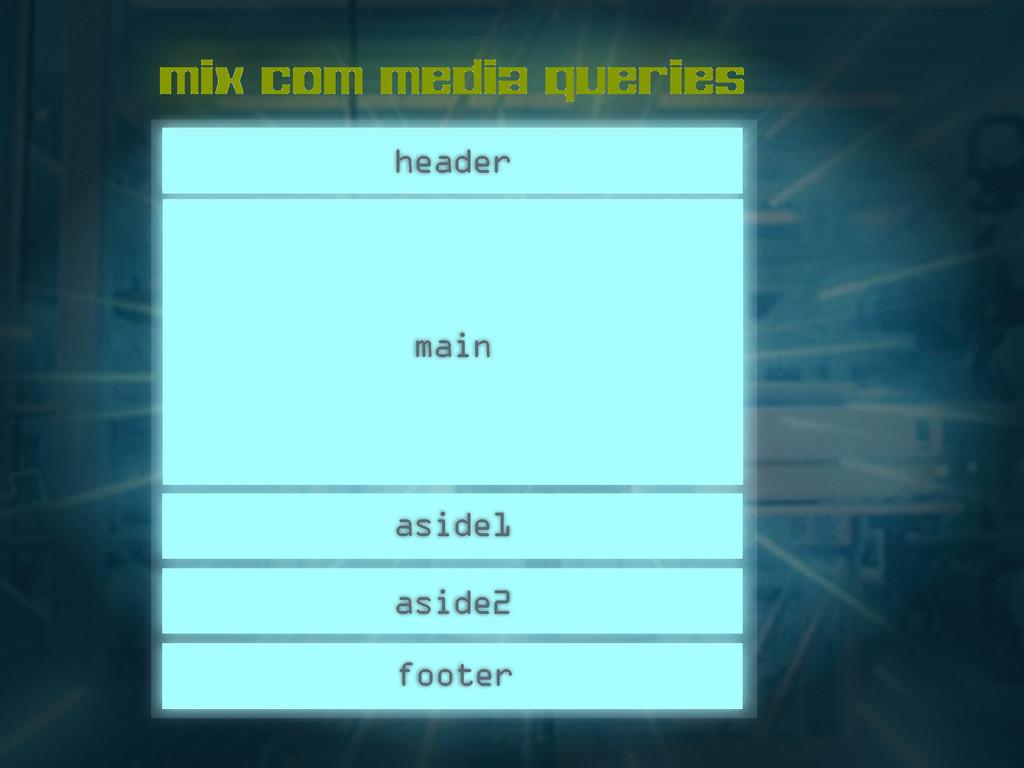 header main footer aside2 aside1 mix com media ...