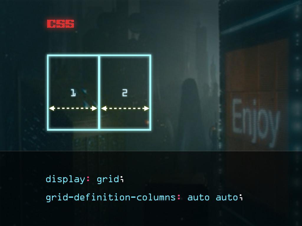 css grid-definition-columns: auto auto; 1 2 dis...