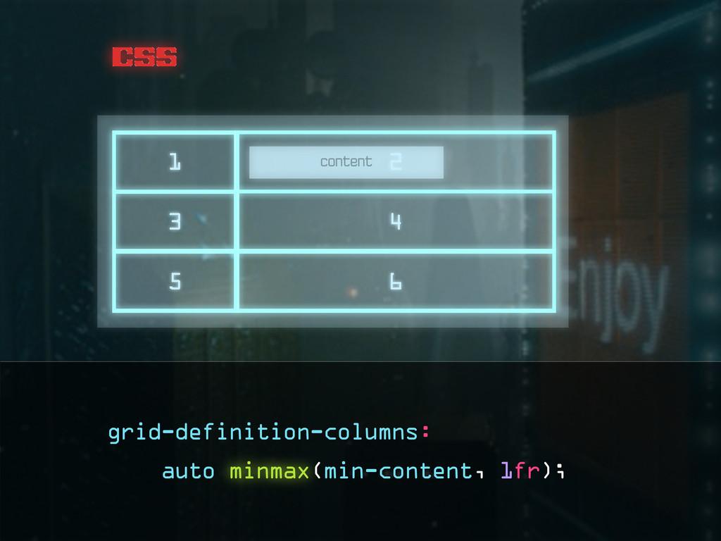 css content grid-definition-columns: auto minma...