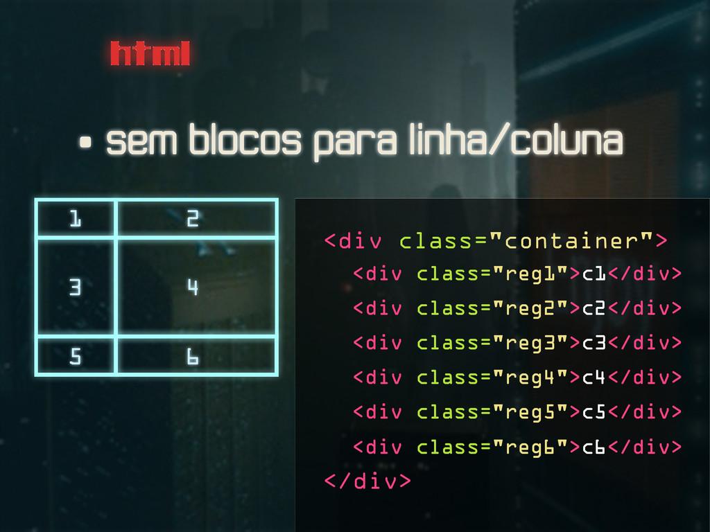 """html <div class=""""reg5"""">c5</div> <div class=""""reg..."""