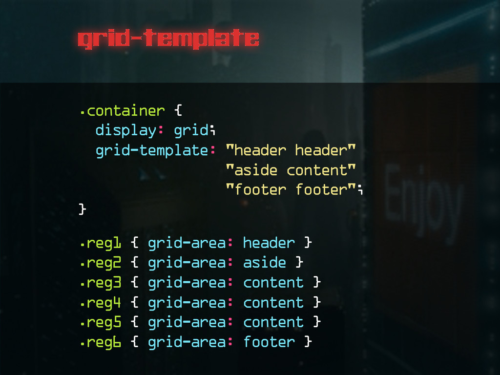 grid-template .container { display: grid; grid-...
