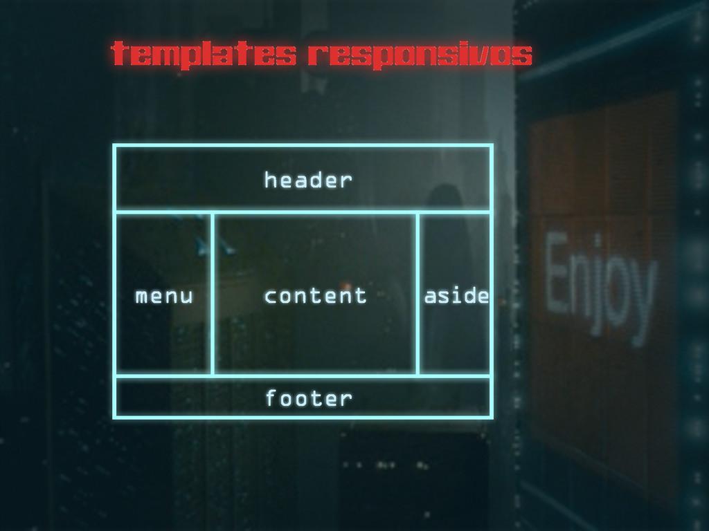 templates responsivos header menu content aside...