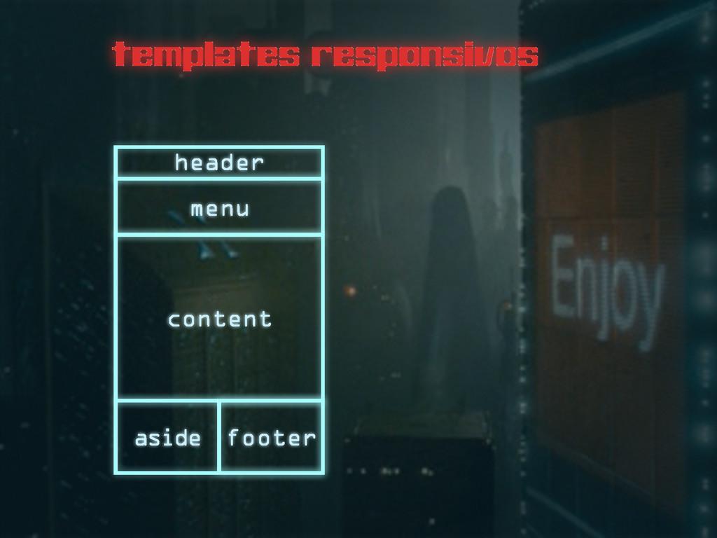 templates responsivos header menu content foote...