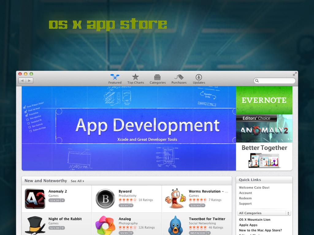 os x app store