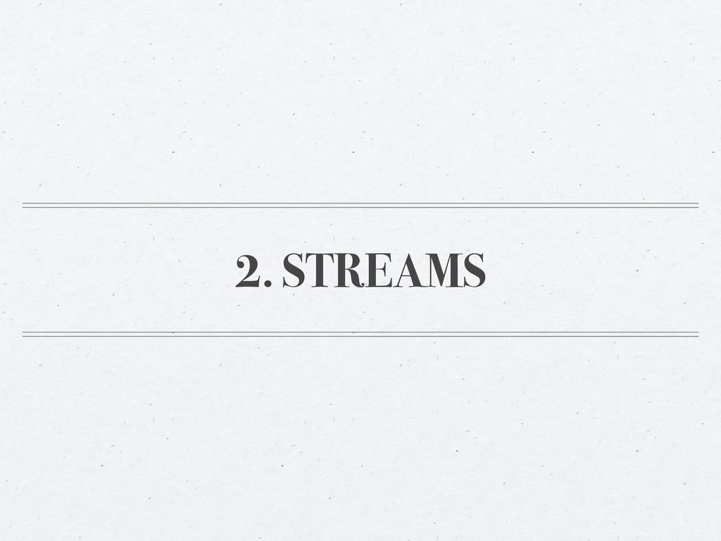2. STREAMS