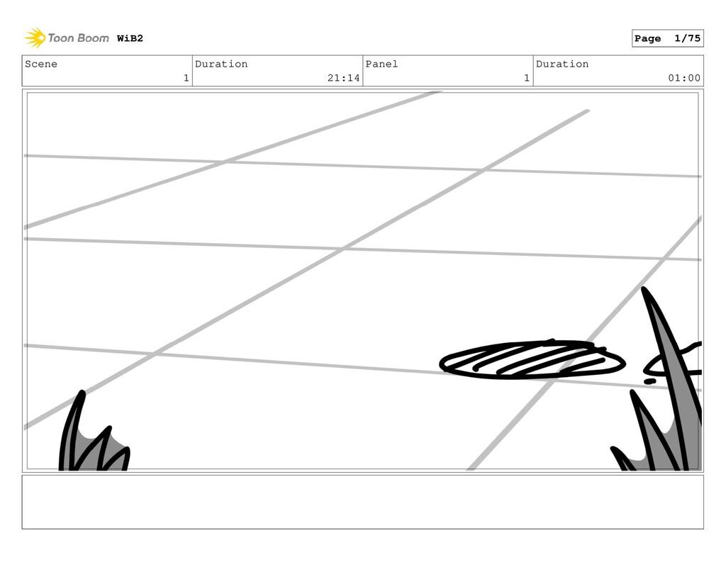 Scene 1 Duration 21:14 Panel 1 Duration 01:00 W...