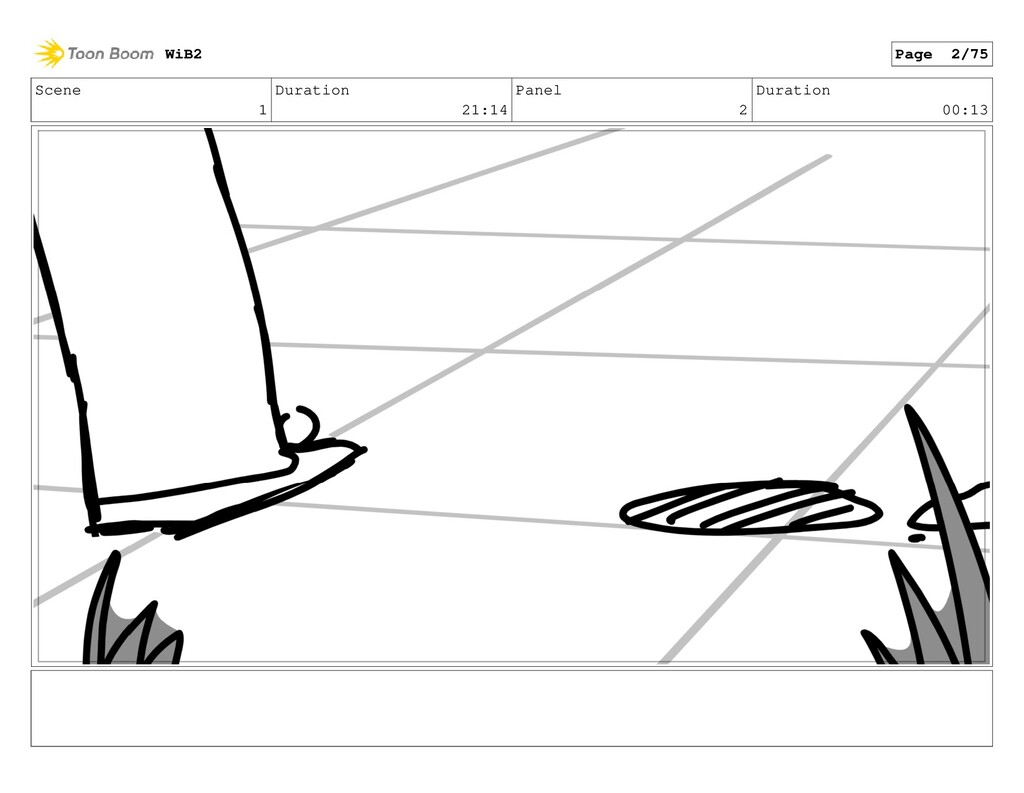 Scene 1 Duration 21:14 Panel 2 Duration 00:13 W...