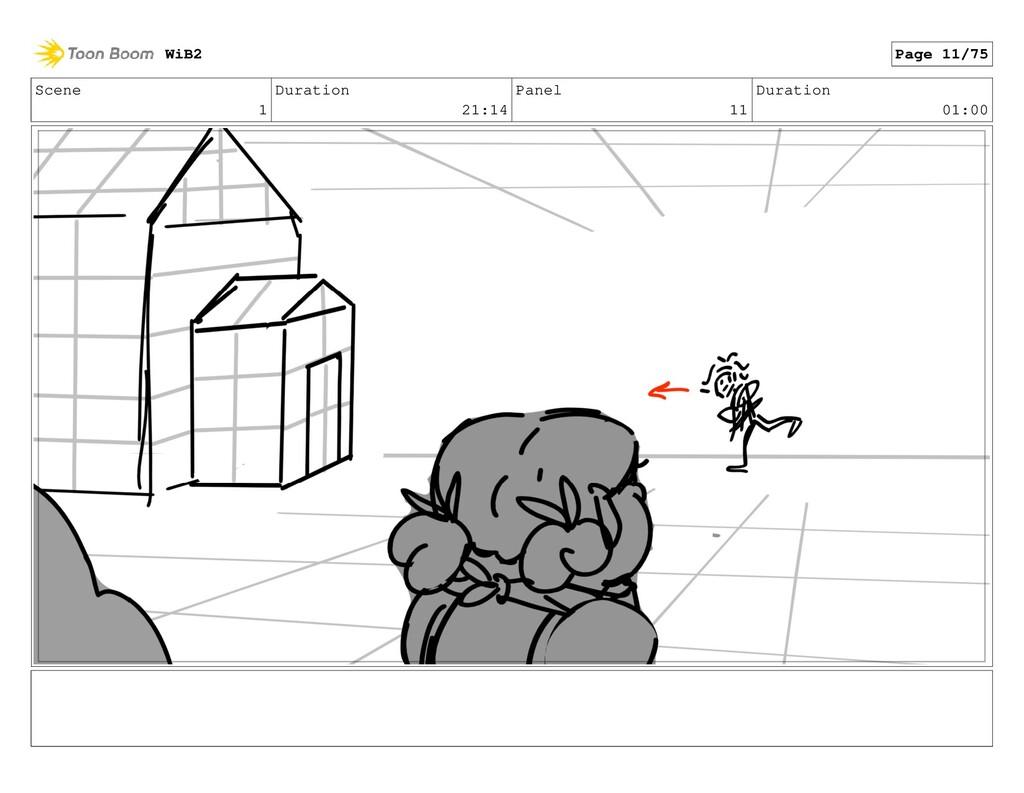 Scene 1 Duration 21:14 Panel 11 Duration 01:00 ...