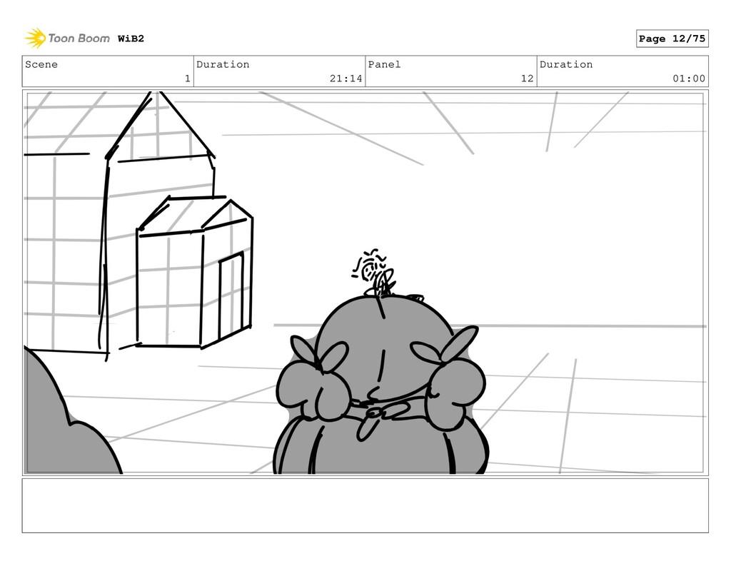 Scene 1 Duration 21:14 Panel 12 Duration 01:00 ...