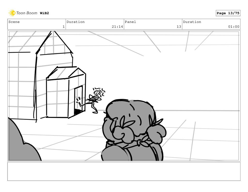 Scene 1 Duration 21:14 Panel 13 Duration 01:00 ...