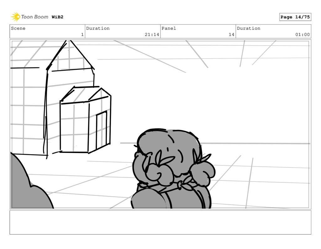 Scene 1 Duration 21:14 Panel 14 Duration 01:00 ...