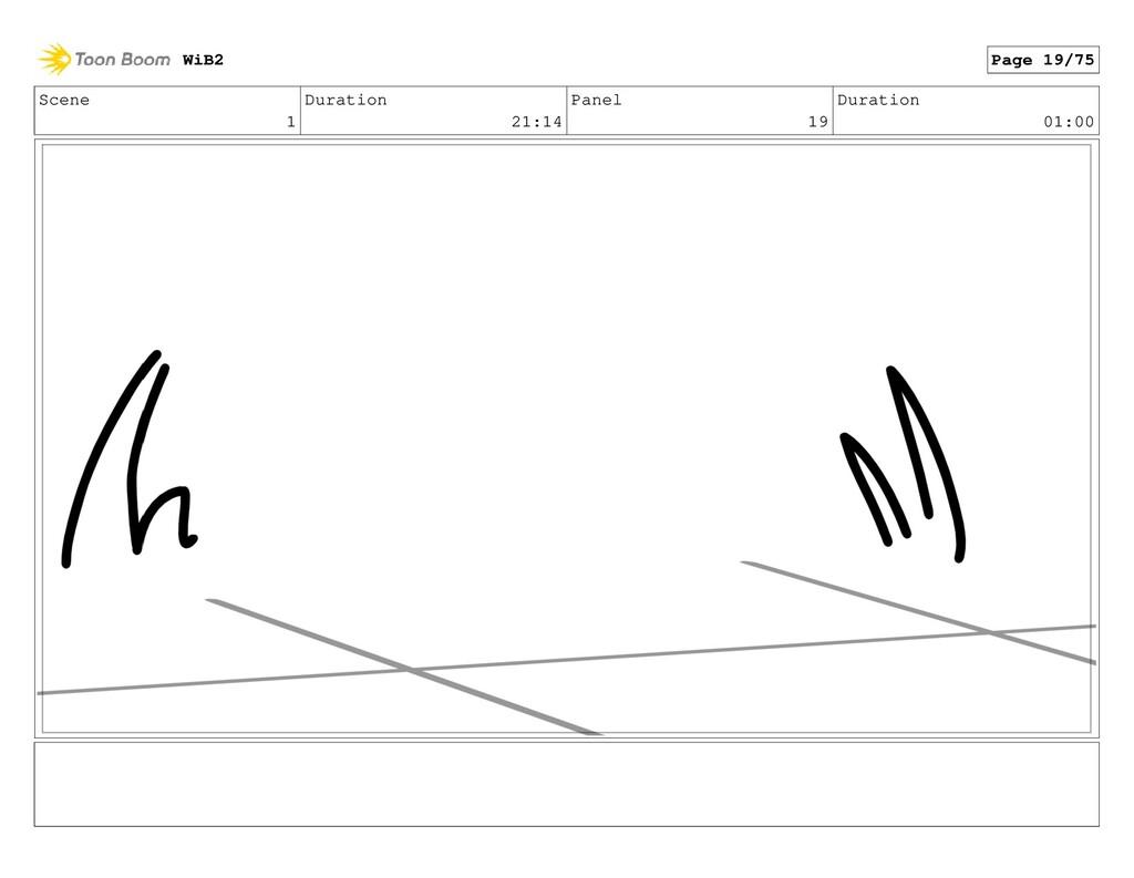 Scene 1 Duration 21:14 Panel 19 Duration 01:00 ...