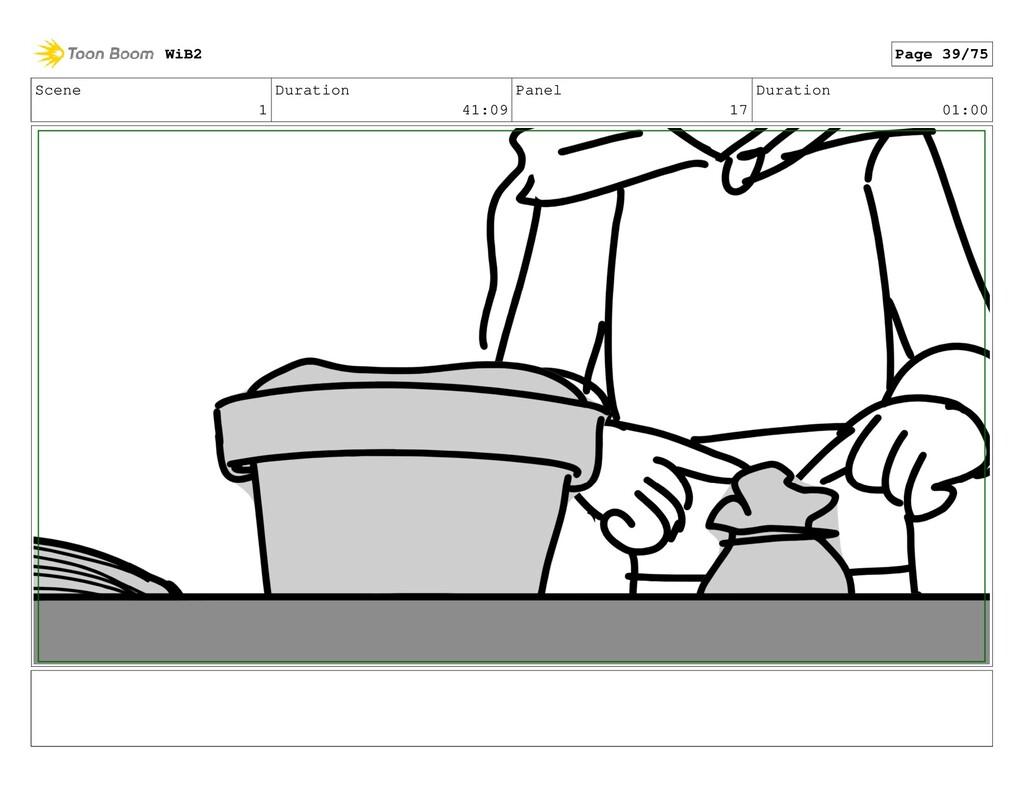 Scene 1 Duration 41:09 Panel 17 Duration 01:00 ...