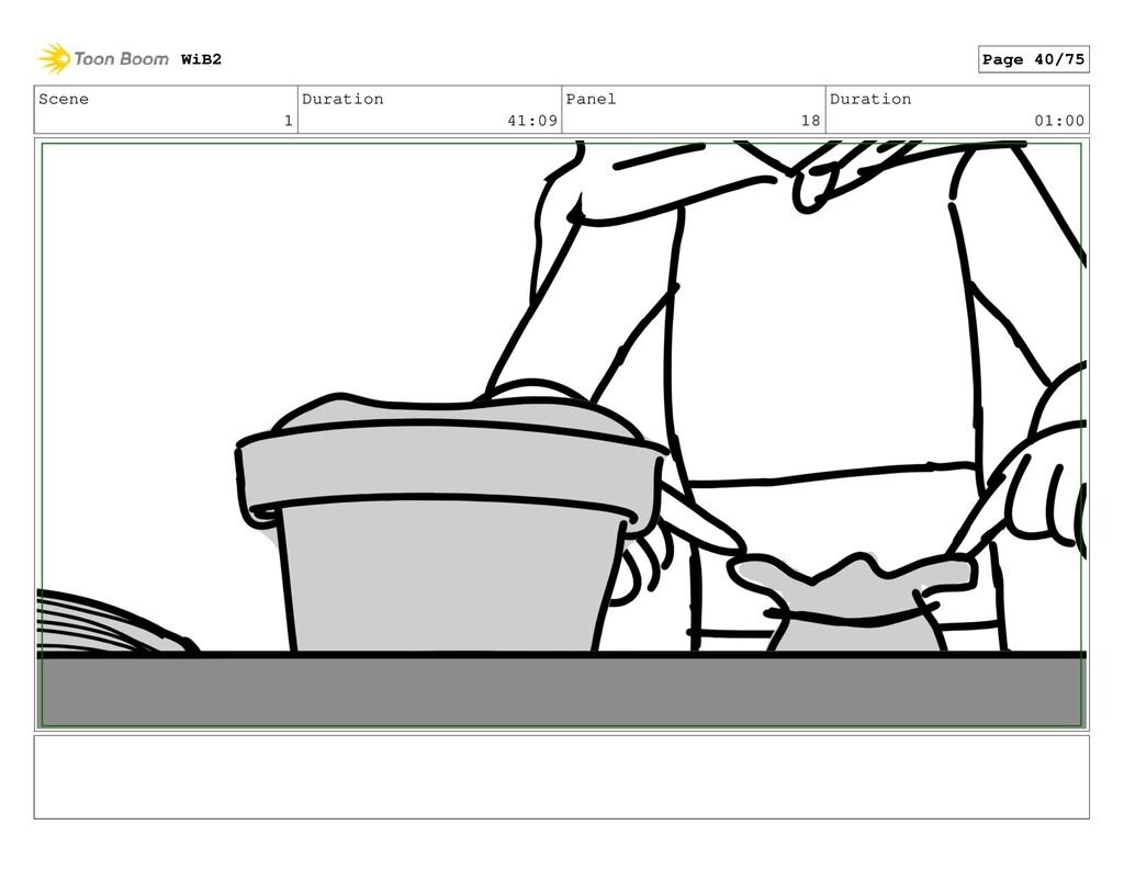 Scene 1 Duration 41:09 Panel 18 Duration 01:00 ...
