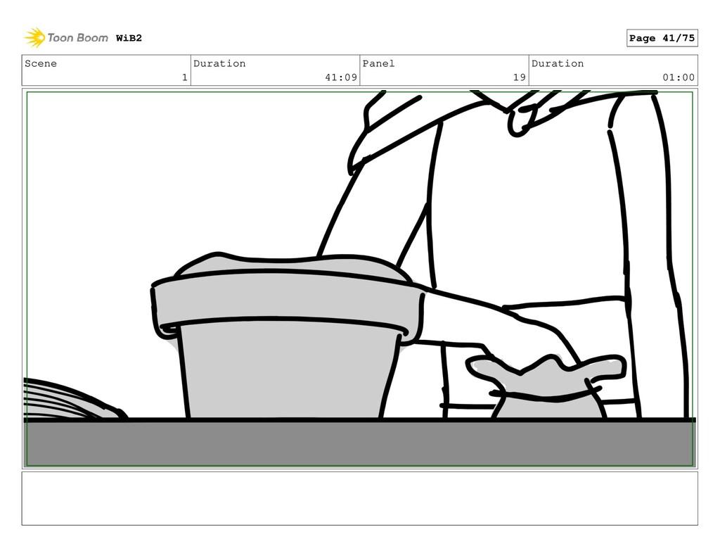 Scene 1 Duration 41:09 Panel 19 Duration 01:00 ...