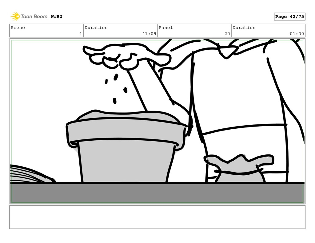 Scene 1 Duration 41:09 Panel 20 Duration 01:00 ...