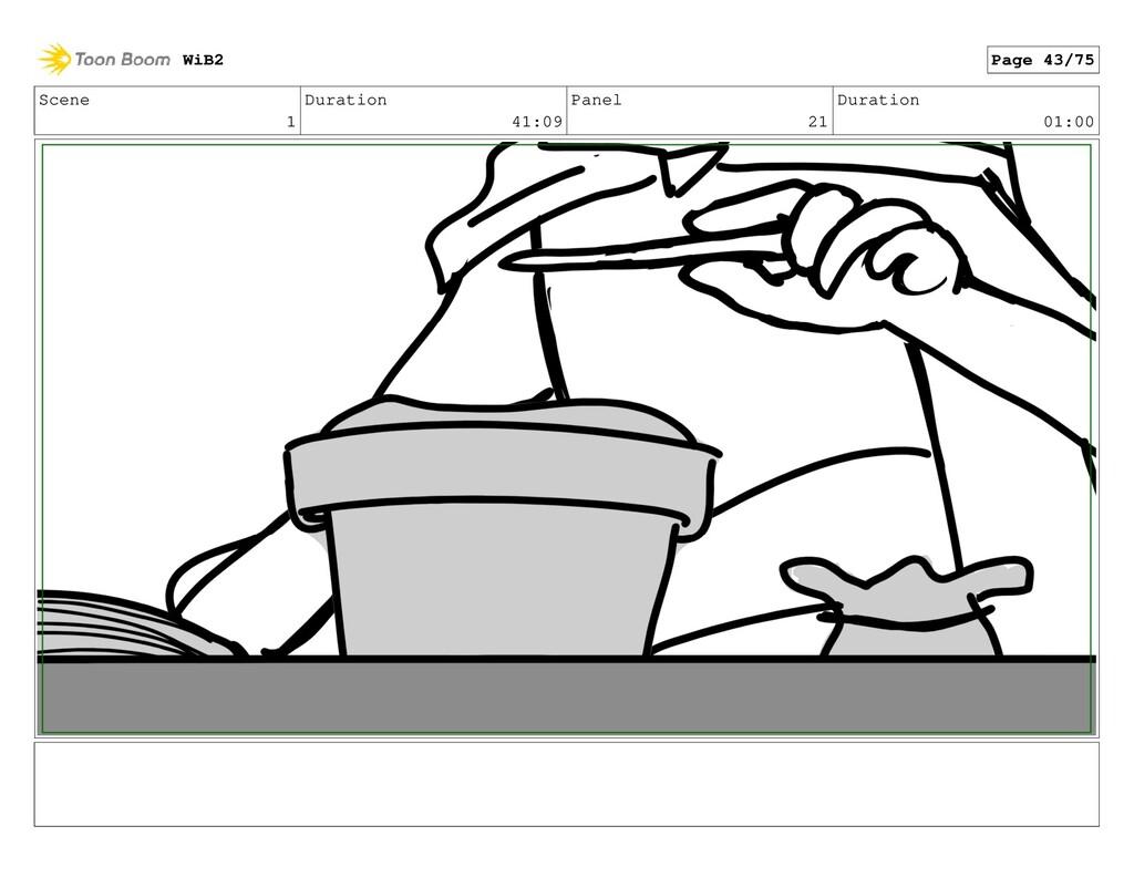 Scene 1 Duration 41:09 Panel 21 Duration 01:00 ...