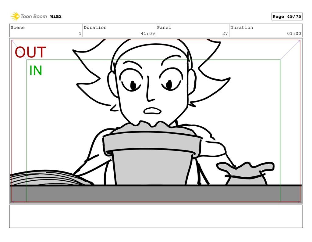 Scene 1 Duration 41:09 Panel 27 Duration 01:00 ...