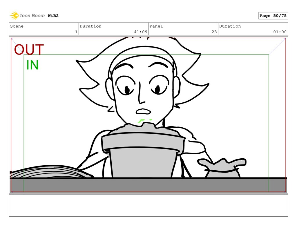 Scene 1 Duration 41:09 Panel 28 Duration 01:00 ...