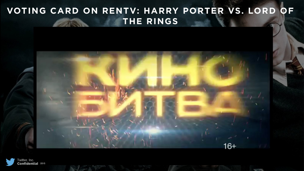 VOTING CARD ON RENTV: HARRY PORTER VS. LORD OF ...