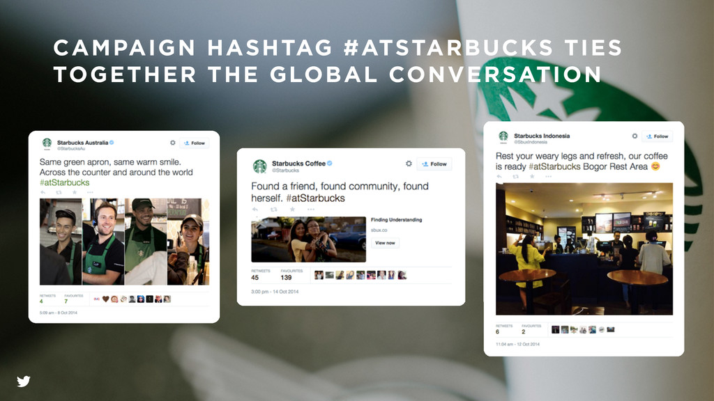 CAMPAIGN HASHTAG #ATSTARBUCKS TIES